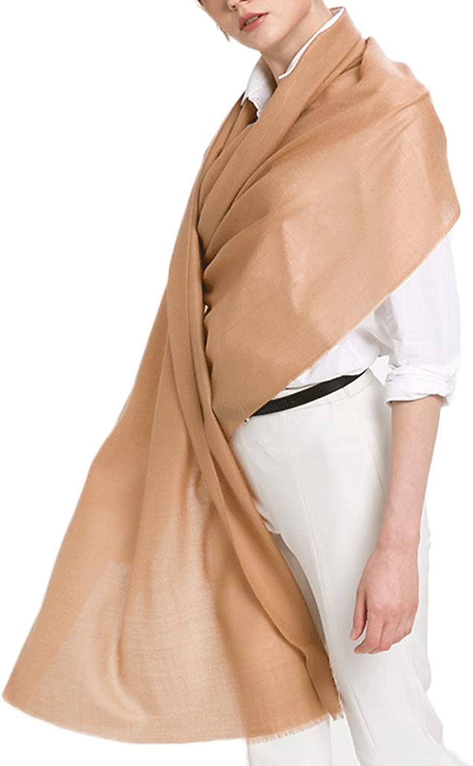 CHX Woman Scarf Thin Section Keep Warm Shawl Multipurpose 230cm×80cm V (color   Camel)