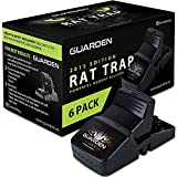 Guarden Reusable Rat Traps That Work - 6 Rat Trap Set - Easy to Bait and Set Rodent Trap for Rats, Mice, Chipmunks, Vole, Mouse, Outdoor and Indoor Rat Traps