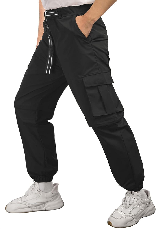 GRACE KARIN Men's Convertible Hiking Pants Waterproof Quick Dry Zip Off Casual Cargo Pants