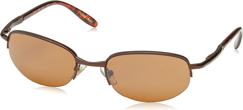 Foster Grant Men's Driver 52 Oval Sunglasses