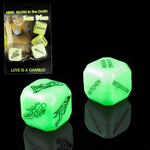 Need for Gift - Novelty Love Dice Glow in a Dark - Model 2020 - Gift for Men Boyfriend Gents - Ideal Cheeky Anniversary Present - Naughty Fun Bedroom Games - Great Stocking Filler (1 Pack)