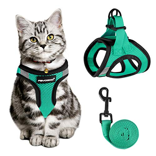 Cat Harness and Leash for Walking Escape Proof, Adjustable Cat Leash and Harness Set, Lifetime Replacement, Lightweight Kitten Harness, Easy Control...