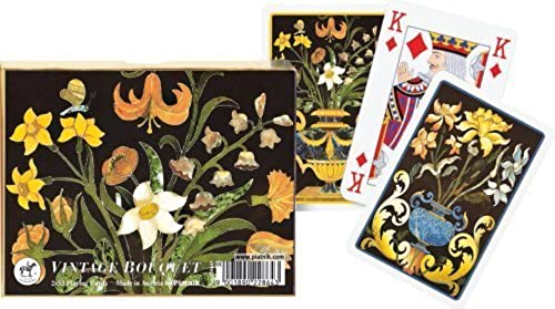 descuento Piatnik playing cards - Vintage Bouquet by by by Gibsons Games  hasta un 50% de descuento