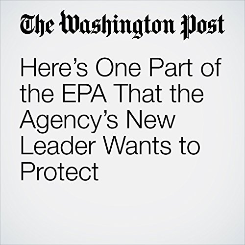 Here's One Part of the EPA That the Agency's New Leader Wants to Protect copertina