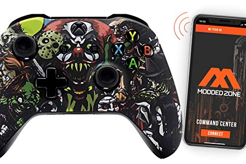 Scary Party Smart Rapid Fire Custom Modded Controller for Xbox One S Mods FPS Games and More. Control and Simply Adjust Your mods via Your Phone!