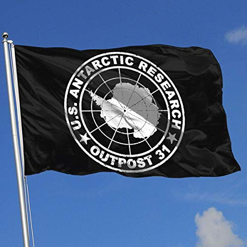 Gsixgoods Flagge Outpost 31 Antarctica Research 3x5 Foot Flags Outdoor Flag 100% Single-Layer Translucent Polyester 3x5 Ft