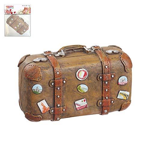 CREATIV DISCOUNT Miniatur Koffer Urlaubsreif ca. 5,8x2,8x3,7cm