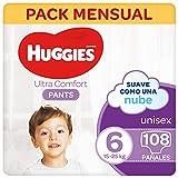 Huggies® Ultra Comfort Pants Pañal Braguita Talla 6 (9-14 kg) – 108 pañales, 4 packs de 27 uds