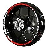 MOTOINKZ バイク用 17インチ フルカスタムリムステッカー GP4 レッド B-84-RED