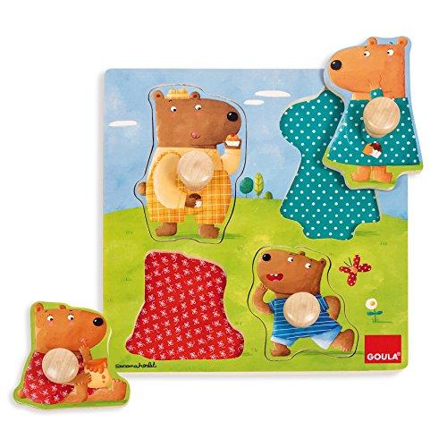 Goula - Puzzle con familia osos (Diset 53119) , color/modelo