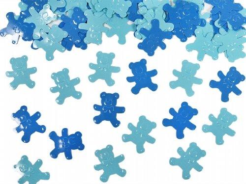 SiDeSo® Konfetti Streudeko Babyparty Kinder Geburt Geburtstag (15g blau Bärchen)