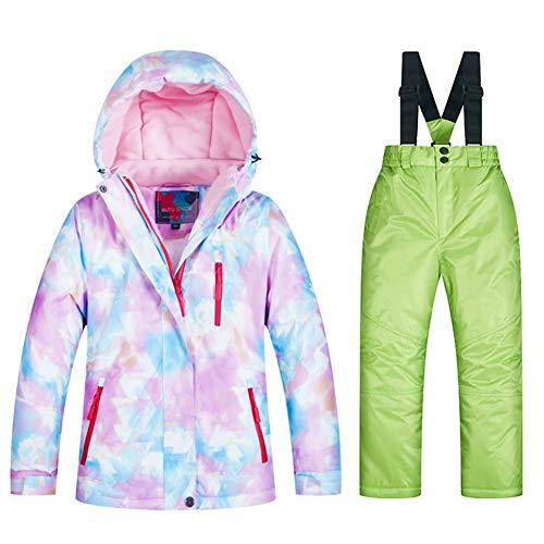 Schnee Skianzug, lousi217 Kinder Mädchen Ski Warme Jacke Wasserdichte Schneeanzug Winter Skijacke Hose Set
