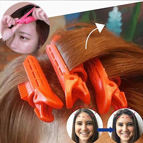2 × pince à cheveux moelleux naturel racine de cheveux bigoudi Roller Wave Clip de coiffure moelleux (Bleu clair)