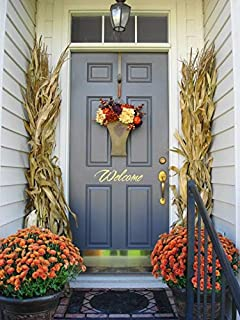 dried corn stalks for fall decorations