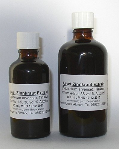 Asvet 100ml Zinnkraut Extrakt, Tropfen, Tinktur, Kieselsäure Konzentrat