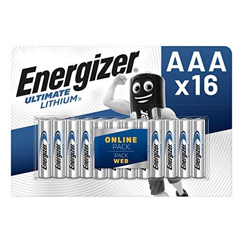 Energizer Ultimate Pila AAA de Litio, Paquete de 16 Unidades