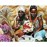 ganlanshu Cuadro En Lienzo Mujeres africanas Imagen de la Pared decoración del hogar para Dormitorio Sala de Estar carteles60x80cmPintura sin Marco