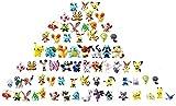 SZWL Pokemon Monster Mini Figure, Personaggi dei Pokemon, Altezza 2-3 cm,La Figura Pokemon Include Pikachu, Charmander, Squirtle Miglior Regalo per i Bambini(72Pezzi)
