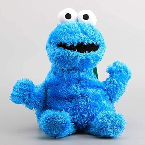 Boufery Mochila de Peluche de Barrio Sésamo, Bolsa de Felpa de Monstruo de Galleta Azul, Bolsa para niños, muñecos de Peluche, Regalo para niños de 38 cm