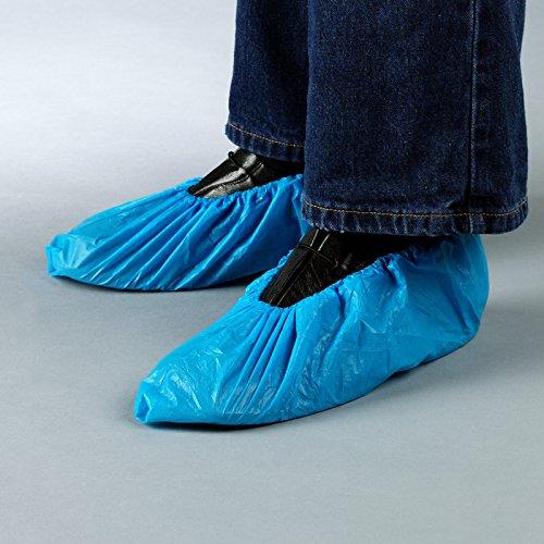 100 Stück - Extra-Starke CPE-Überschuhe, OP Schuhüberzieher, Überziehschuhe, Einweg Schuhüberzug