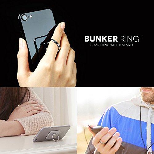 BUNKERRING3(全5色)バンカーリングiPhone/iPad/iPod/Galaxy/Xperia/スマートフォン・タブレットPCを指1本で保持・落下防止・スタンド(ジェットブラック)