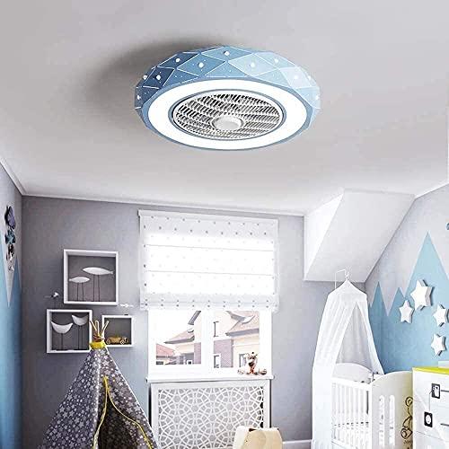 SHU Ventilador de techo LED con luz y control remoto 40W, iluminación de techo regulable, 3 archivos Velocidad de viento ajustable, creatividad moderna Silent Silent Invisible Fan Lámpara de techo Ara