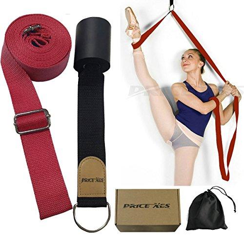 Flexibilidad de puerta y estiramiento pierna correa–gran alegría Danza de ballet para gimnasia o cualquier deporte pierna Camilla puerta flexibilidad Trainer Premium estiramientos equipo, Rojo