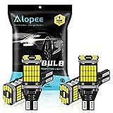 ALOPEE - Paquete de 4-921 912 T10 T15 W16W Xenon Blanco 1200 Lúmenes 12V-24V Non-Polarity Canbus Error Libre 45SMD Bombillas LED para Tercera luz de Freno Luces Laterales Luces Inversas de Respaldo