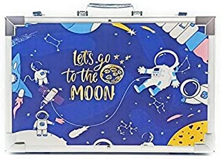 HayatunNYC 145 Pieces Painting and Drawing Art Sets in Durable Aluminum Case   Bonus DIY Coloring Apron   Include Water Co...