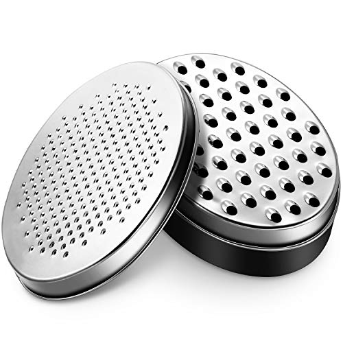 Cheese Grater with Food Storage Container and Lid Vegetable Chopper Shredder for Hard Soft Cheeses Cheddar Ginger Vegetables Butter Chocolate and Nutmeg Black