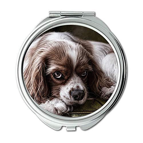 Yanteng Spiegel, Schminkspiegel, Hund Tier Haustier Canine Hunderasse reinrassig, Taschenspiegel, tragbarer Spiegel