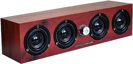 Computer Speakers Soundbar,Bassbox Wired Computer Sound Bar,USB Powered Mini Soundbar Speaker for PC Desktop Laptop Cellphone Tablets (Red)