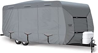 S2 Expedition Travel Trailer Covers by Eevelle | Marine Grade Waterproof Fabric Roof | Tan and Gray