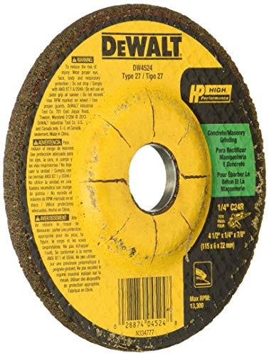 DEWALT DW4524 4-1/2-Inch by 1/4-Inch by 7/8-Inch Concrete/Masonry Grinding Wheel