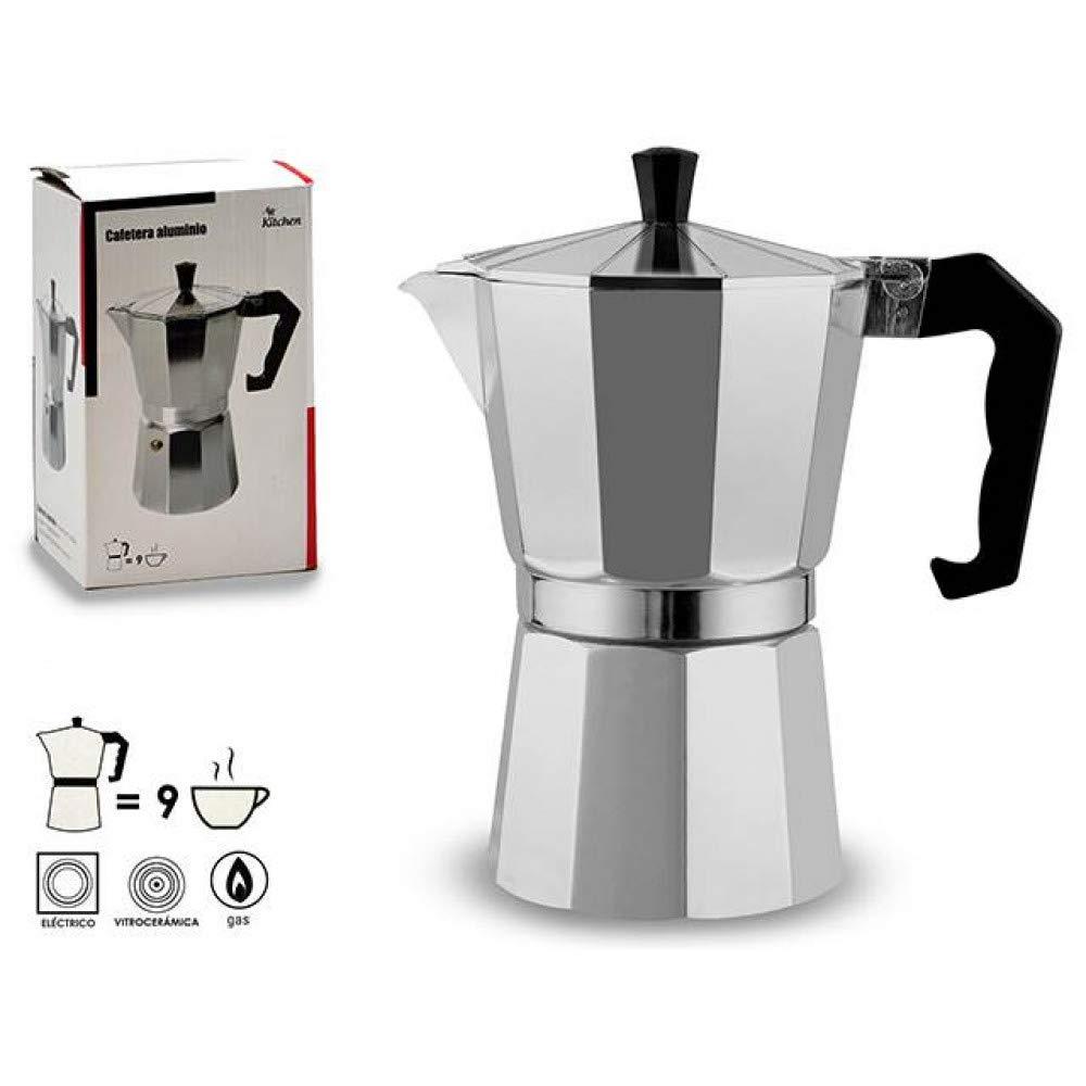 Ar Kitchen Cafetiera - Cafetera Italiana (Aluminio, 9 Tazas ...