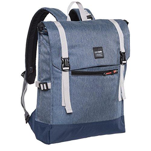 pacsafe (パックセーフ) slingsafe LX450 Anti-Theft 14L Backpack 盗難防止機能 バックバッグ (Denim) [並行輸入品]
