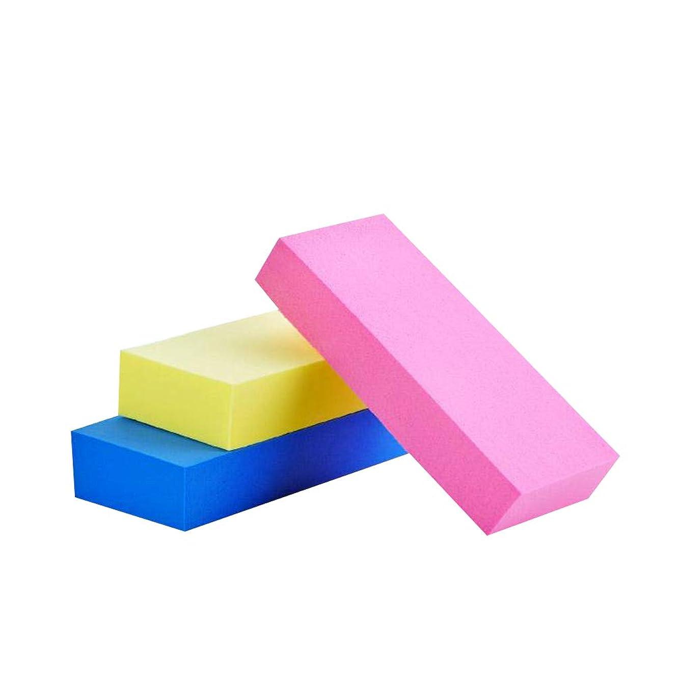 トランクバックグラウンド三角形Lurrose 3ピースシャワースポンジパッド剥離バススポンジクリーナーワイプスクラバー吸収体剥離剤と保湿剤