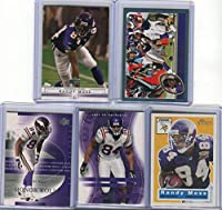 Randy Moss Minnesota Vikings Assorted Football Cards 5 Card Lot