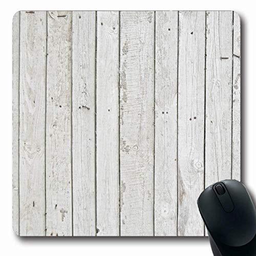 Mouse Pad Hintergrund Bunte Architektonische Abblätternde Weiße Alte Holzzaun Grunge Holz Palisade Wand Texturen 25X30Cm Laptop-Spiele Gummischule Mousepad Längliche Rutschfeste M