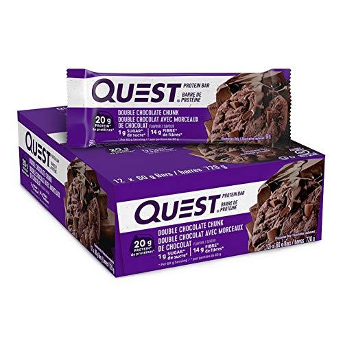 Quest Bar Double Chocolate Chunk 12/box, 720 g