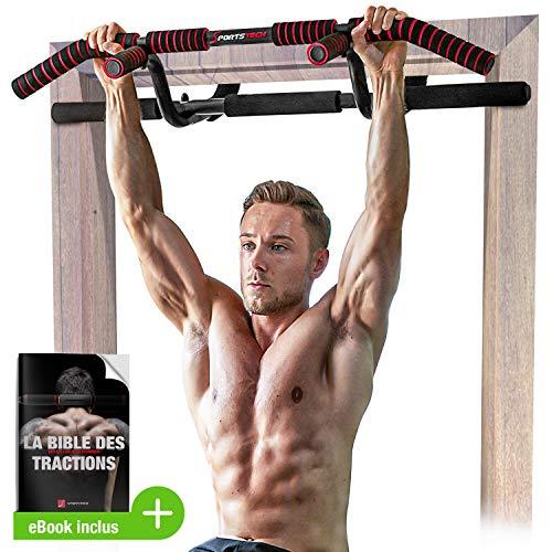 Sportstech Premium Combi Package ! Barre de Traction 6 en 1, y Compris Dip Bar & Power Ropes, Barre de Traction sans perçage, Barre d'entraînement Crossfit à la Maison, KS600 Multifonctionnel