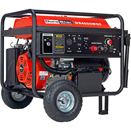 Hot Sale DuroStar DS4000WGE 4,000 Watt Gas Powered Portable Generator With Electric Start And 210 AMP Electric Welder Combo