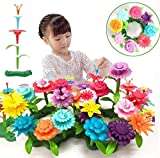 Barchrons Flower Garden Building Toys Set, Flower Building Toy Educational Creative Playset for Age 3,4,5,6,7 Year Old Gifts 54+10+1pcs