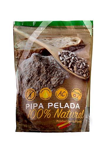 800g PIPA PELADA PANADERÍA . Pipas de Girasol producidas y peladas en España. Crudas y sin sal. SIN GLUTEN. ENVASE CON ZIP
