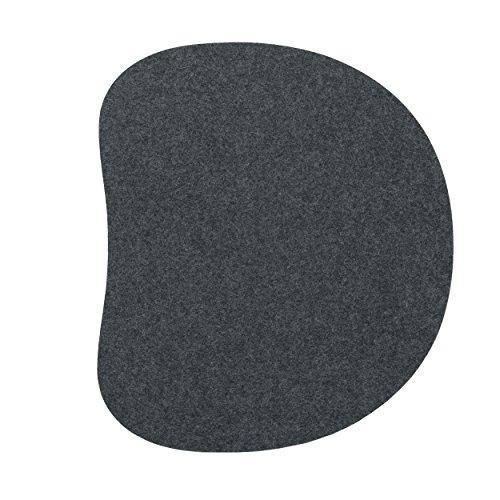 Sitzauflage für Panton Stuhl 1-lagig anthrazit