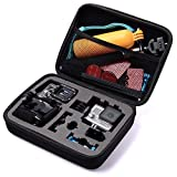 TEKCAM Carrying Case Protective Bag with Water Resistant EVA Compatible with Gopro Hero 8 7 6/<span class='highlight'>AKASO</span> <span class='highlight'>EK7000</span>/APEMAN/Victure/Crosstour <span class='highlight'>4K</span>/Campark Waterproof Action camera Travel Home Storage(Mideum)