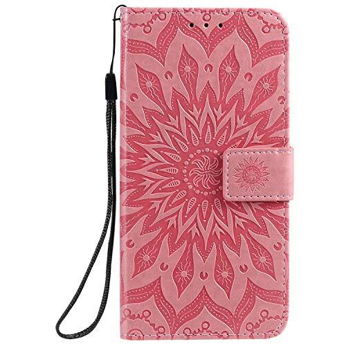 Jeewi Hülle für Vivo V11/V11 Pro/V11i/Y97 Hülle Handyhülle [Standfunktion] [Kartenfach] [Magnetverschluss] Tasche Etui Schutzhülle lederhülle flip case für Vivo V11 Pro - JEKT032684 Rosa