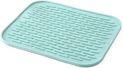 BESTONZON Multi-Purpose TPR Hot Pad Solid Color Kitchen Heat Insulation Pot Holder Mat Non-Slip Heat Resistant Placemat (Green)