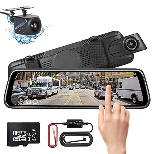 Spiegel Dashcam, Autokamera Video Recorder 1080P Full HD mit 170° Weitwinkelobjektiv,10