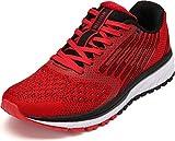 WHITIN Laufschuhe Für Herren Damen Hallenschuhe Turnschuhe Sneakers Männer Sportschuhe Straßenlaufschuhe Atmungsaktiv Joggingschuhe Fitness Schuhe Rot Größe 43